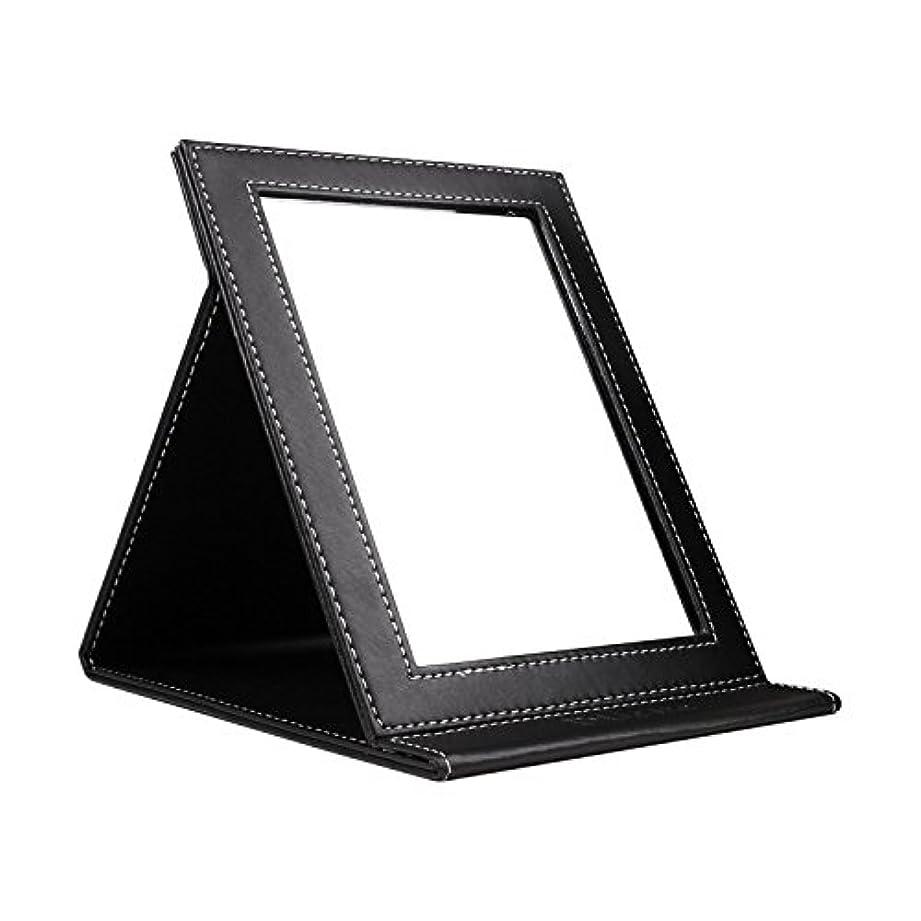 ペインティング急いでラリーベルモントDUcare ドゥケア 化粧鏡 スタンドミラー 折りたたみ式 角度調整自由自在 上質PUレザー使用