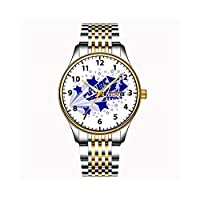 クリスマスギフト時計メンズファッション日本のクォーツデイトステンレススチールブレスレットゴールドウォッチフューチャードクターキッズウォッチ