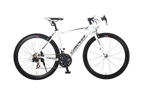 カノーバー ロードバイク 700C シマノ21段変速 CAR-015(UARNOS) アルミフレーム フロントLEDライト付 ホワイト