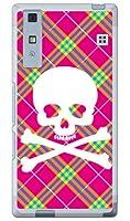 SECOND SKIN スカルパンク ピンク (ソフトTPUクリア) / for Qua phone KYV37/au AKYV37-TPCL-701-J097