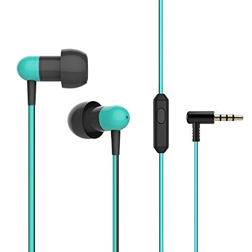 イヤホン ヘッドホン Ziofen カナル型 高音質 マイク インナーイヤー ステレオ earphone ノイズキャンセリング(ブルー) 期間限定