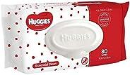 Huggies Essential Clean Baby Wipes 80 Pack