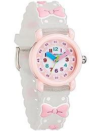 [チックタック] TICKTOCK キッズ腕時計 クオーツ アナログ表示 子供 ガールズ ウォッチ (B) 子供の日 入学 通学 入園 通園 新学期 誕生日 お祝い プレゼント (蝶結びーホワイト) [並行輸入品]