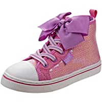 JoJo Siwa Girls Hi-Top Glitter Sneakers (Little Kid/Big Kid)