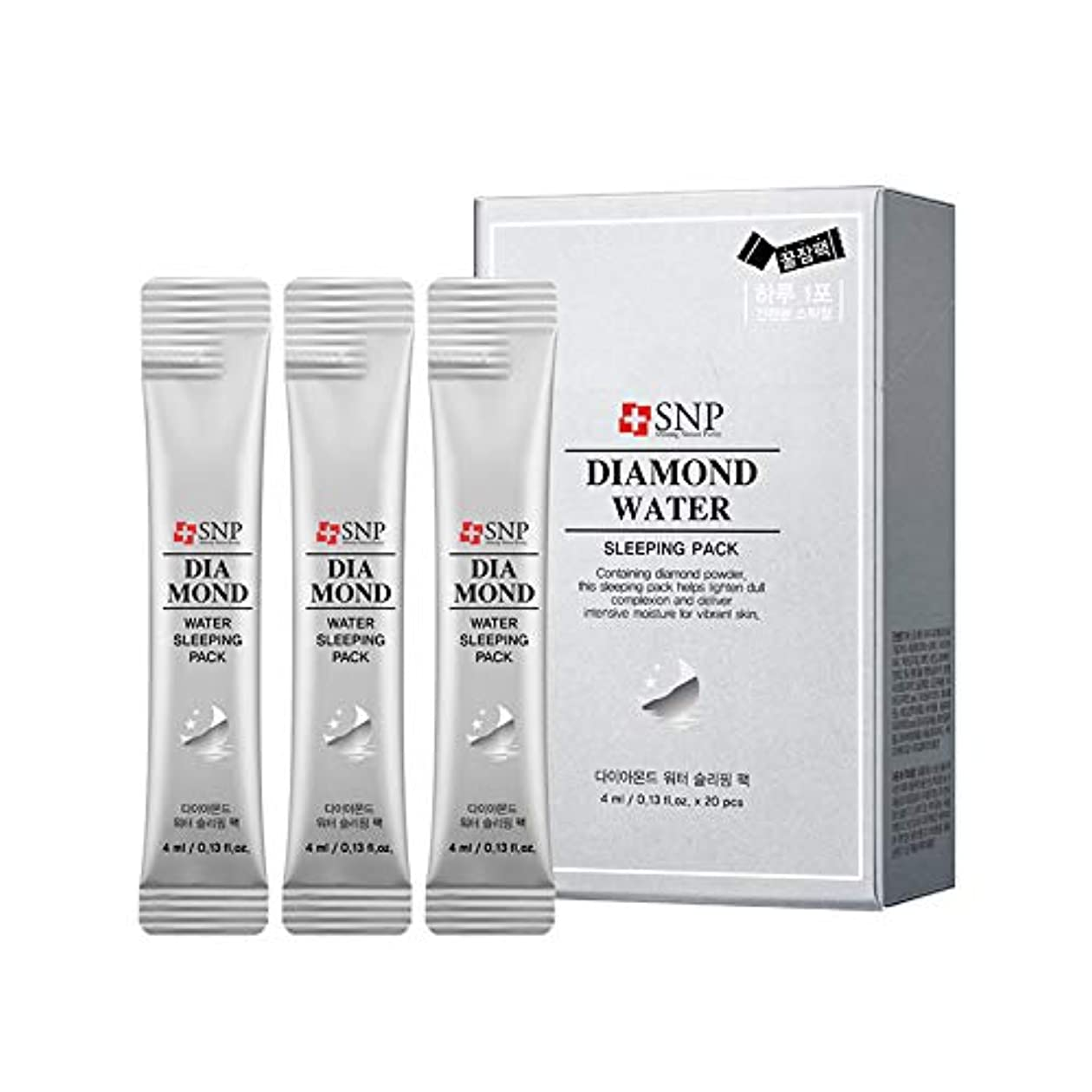 暫定邪魔する担保SNP ダイアモンドウォータースリーピングパック(スティックタイプ) 4mlx20P / Diamond Water Sleeping Pack (Stick type)