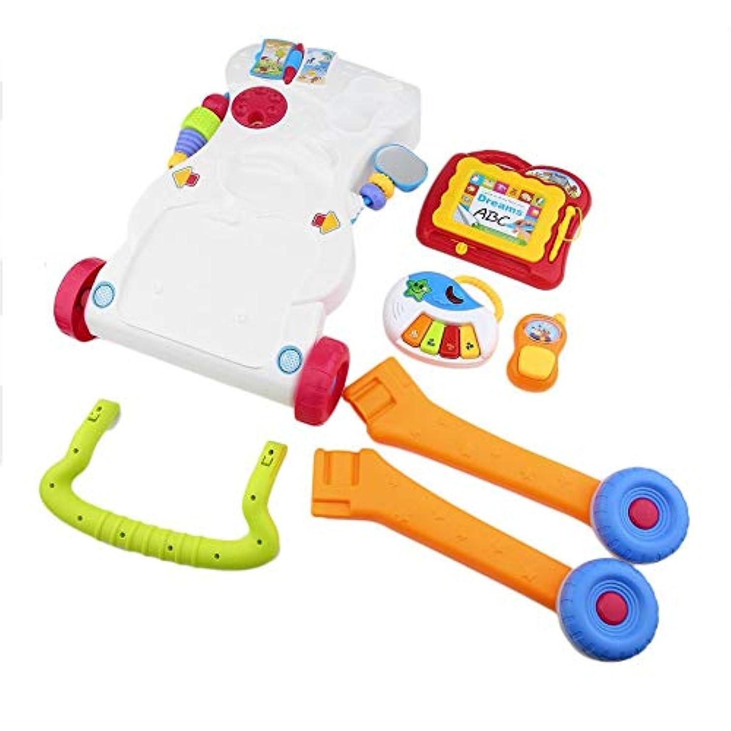 工場レキシコン完璧なベビーウォーカー多機能幼児用トロリーシット?トゥ?スタンドウォーカー(Color:multicolor)