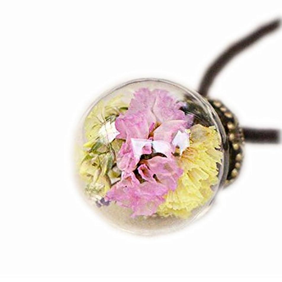 差別する取り出すブランデー美しい乾燥した花のペンダントネックレスセーターの装飾品