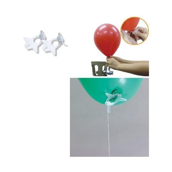 風船用 糸付きクリップ 100入の商品画像