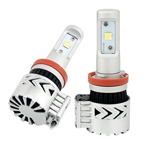 NEVERLAND(JP) 車検対応の防水ledヘッドライト H8/H9/H11/H16共用 CREE社製XHP50 LEDチップ搭載 36WX2 6000LMX2 6500K 2個セット