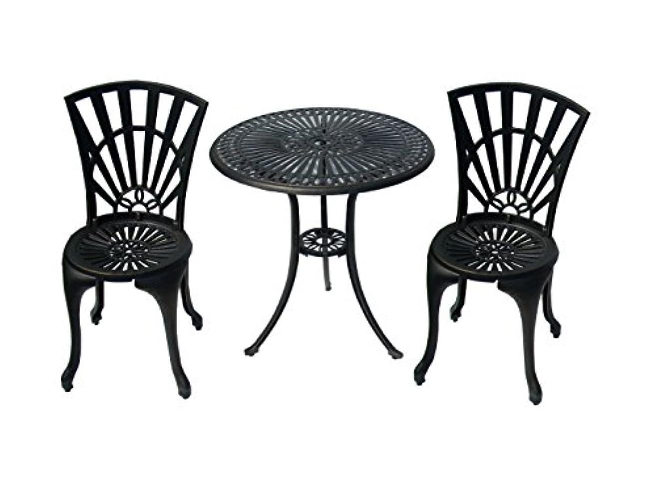 ワックス修羅場環境保護主義者アルミ テーブル チェア セット 太陽花