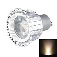 BMY ホームLED電球 GU10 5W 475LMグレーカバーホワイトライトCOB LEDスポットライト、AC 85-265V電球(SKU:S-LED-5725WW)