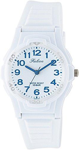 [シチズン キューアンドキュー]CITIZEN Q&Q 腕時計 Falcon ファルコン アナログ表示 10気圧防水 ウレタンベルト ホワイト ブルー VS06-004