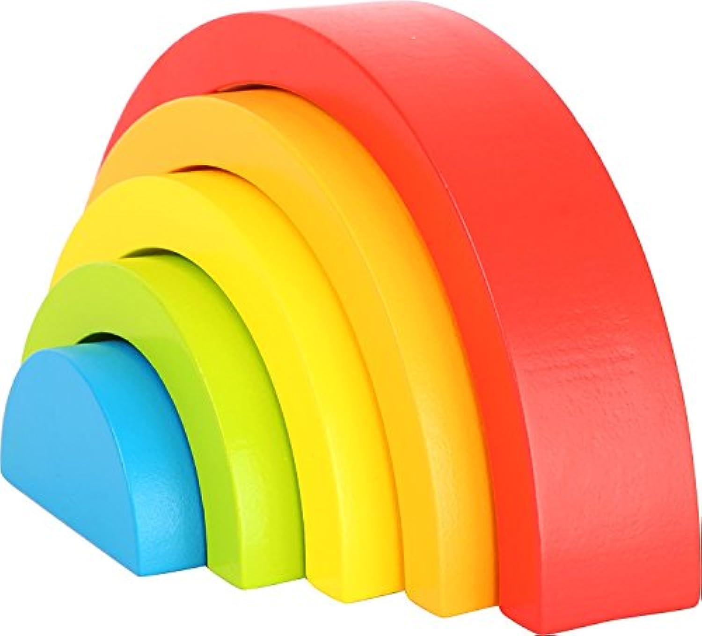 HuaQingPiJu-JP 5種類の色と形の虹のビルディングブロッククリエイティブなおもちゃ