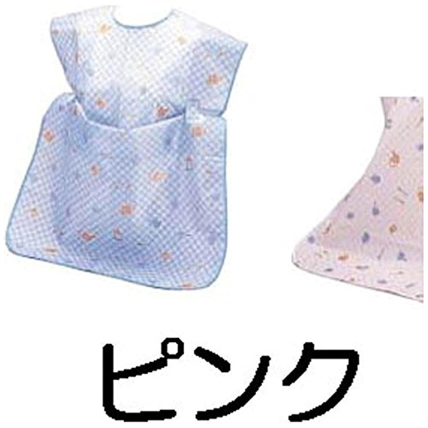 知覚スペア陰気ナイロン お食事2WAYエプロン ピンク 【商品コード】8496500