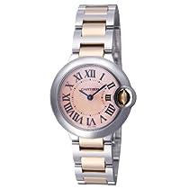 [カルティエ]Cartier 腕時計 バロンブルー ピンクゴールド コンビ ピンクシェル クォーツ レディース W6920034 レディース 【並行輸入品】