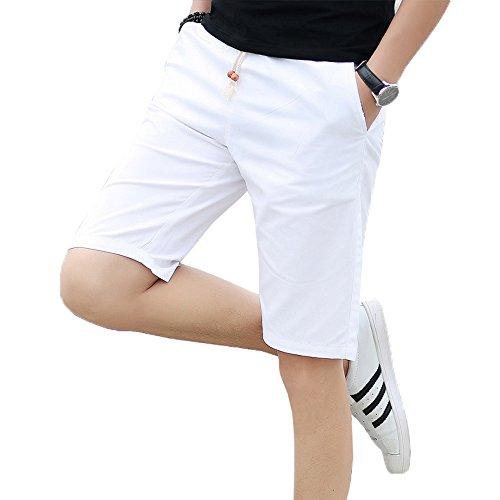 EIMEI ドライフィット スポーツ ショーツパンツ 吸汗速乾 Cool ドライ 半ズボン チノパン 5分丈 大きいサイズ M~5XL ランニング アスリート フィットネス ハーフパンツ (4XL, ホワイト)