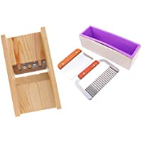 P Prettyia シリコーン ソープモールド ウッドボックス 4個 ベベラープレーナー 手作り 石鹸 切削工具