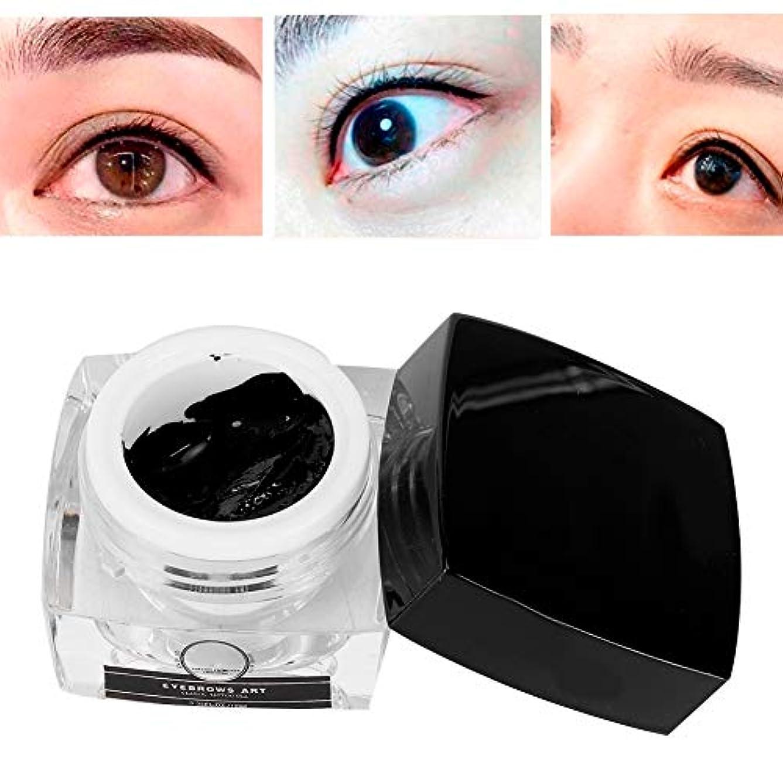 俳句財産願う眉毛の入れ墨インク、自然な入れ墨の顔料Microbladingの顔料の半永久的な唇の眉毛のタトゥーの長続きがするインククリームの眉毛の唇のアイラインの永久的な構造(ブラック)