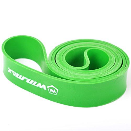 WinLine トレーニングチューブ フィットネスチューブ エクササイズバンド 筋トレ 強度選択可能 (グリーン(50-125ポンド))