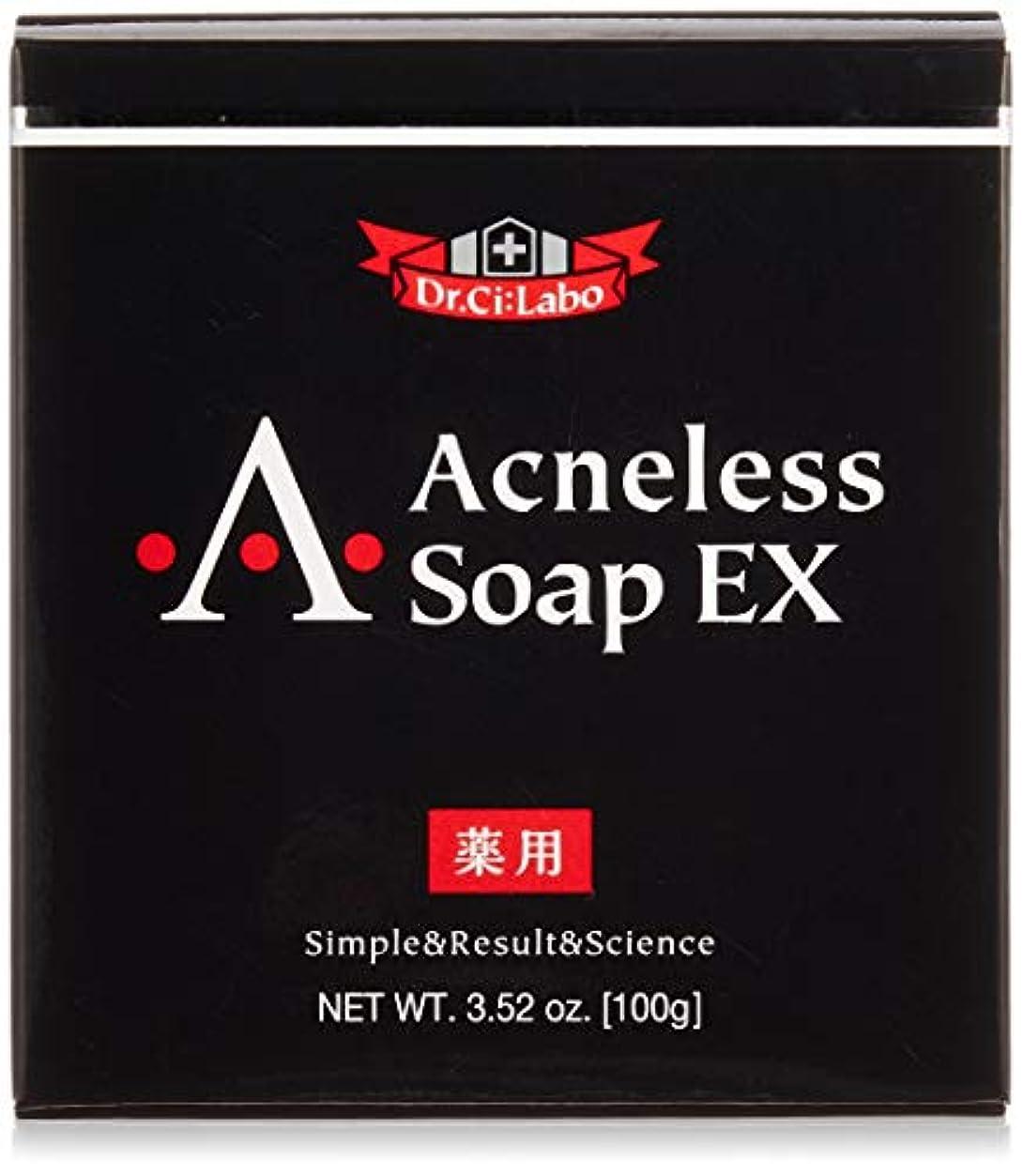 思春期の北米フラスコ薬用アクネレスソープEX100g