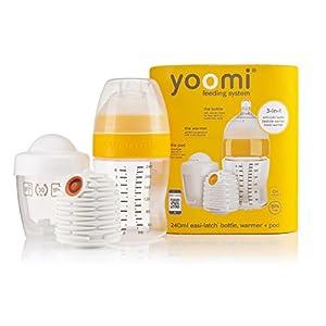 yoomi 温めながら授乳できる高機能哺乳びんスターターセット240ml(哺乳びん・ウォーマー・ポッドセット)