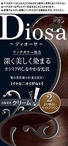 パオン ディオーサ クリーム 2 より明るいライトブラウン 40g+40g 髪の美容液10g