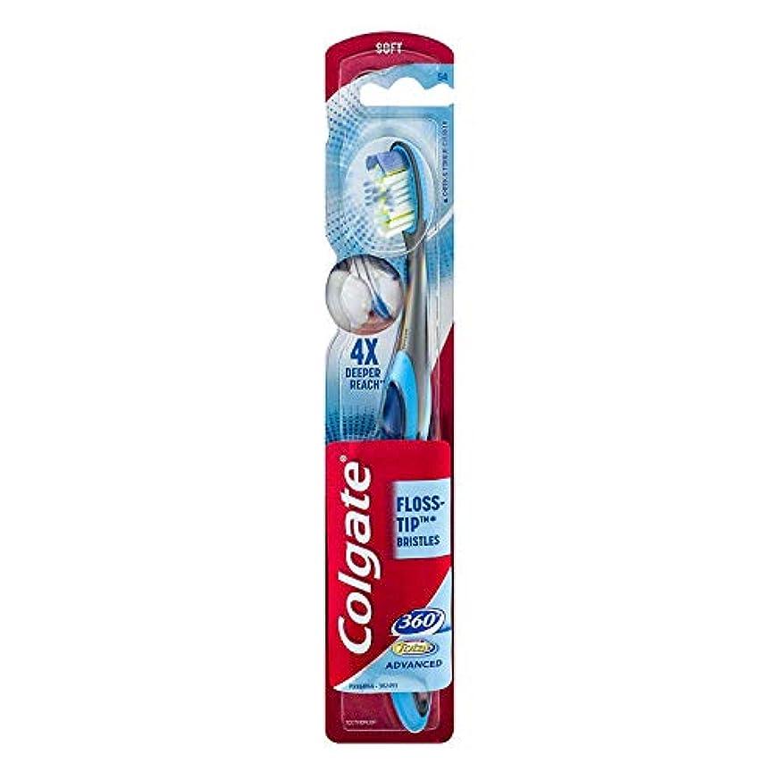 シングル加速する不一致Colgate 360合計先進FLOSS-ヒント歯ブラシ、完全な頭部ソフト1 Eaは 1パック