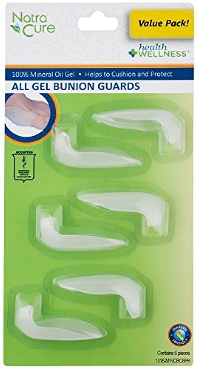 ダンプクモビットNatraCure Gel Big Toe Bunion Guard - (1316-M NCBC 6PK) - 6 Pack [並行輸入品]