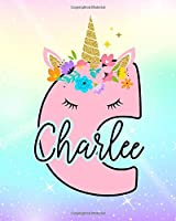 Charlee: Girls Unicorn Journal to Write In | Personalized Journal