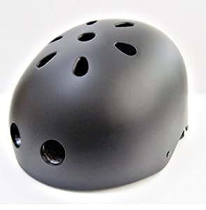 軽量 シンプル スポーツ ヘルメット 子供 や 大人 まで 選べる サイズ  カラー 自転車 スケートボード キックボード ローラー スケート ウォーター スポーツ (マットブラック, S)