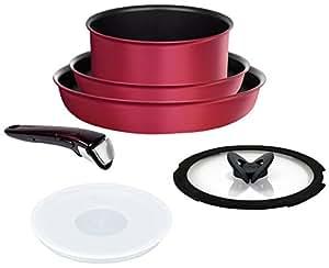 ティファール フライパン 鍋 6点 セット IH対応 「 インジニオ・ネオ IHルビー・エクセレンス セット6 」 チタン エクセレンス 6層コーティング L66391 取っ手のとれる T-fal