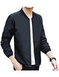chenshiba-JP メンズ軽量フライトスリム野球襟ロングスリーブジャケット