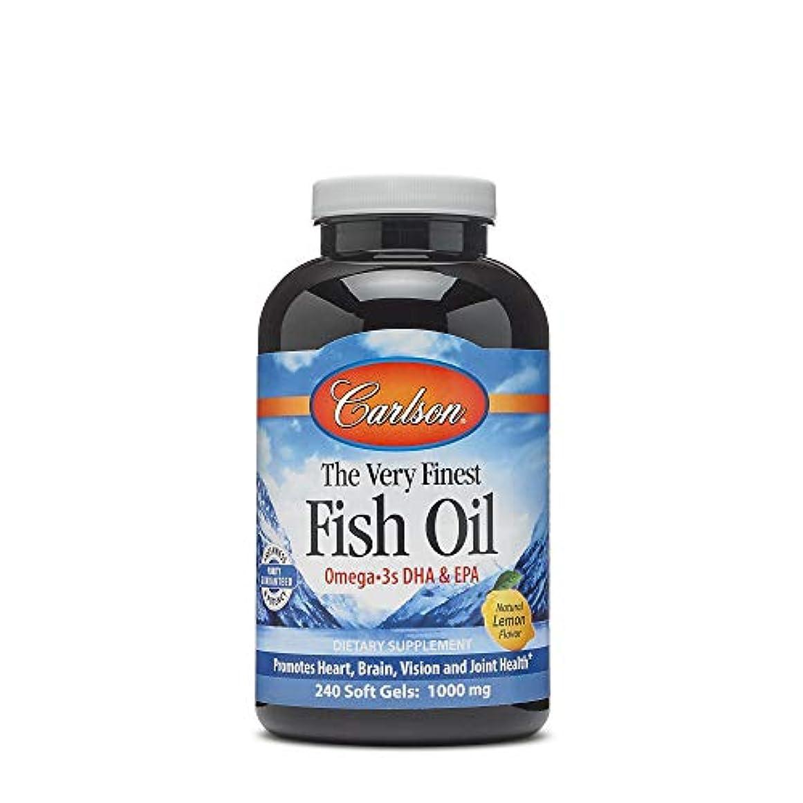 チャンピオンシップ覚醒男らしいCarlson Labs - 最も良い魚オイルレモン味 1000 mg。1ソフトジェル