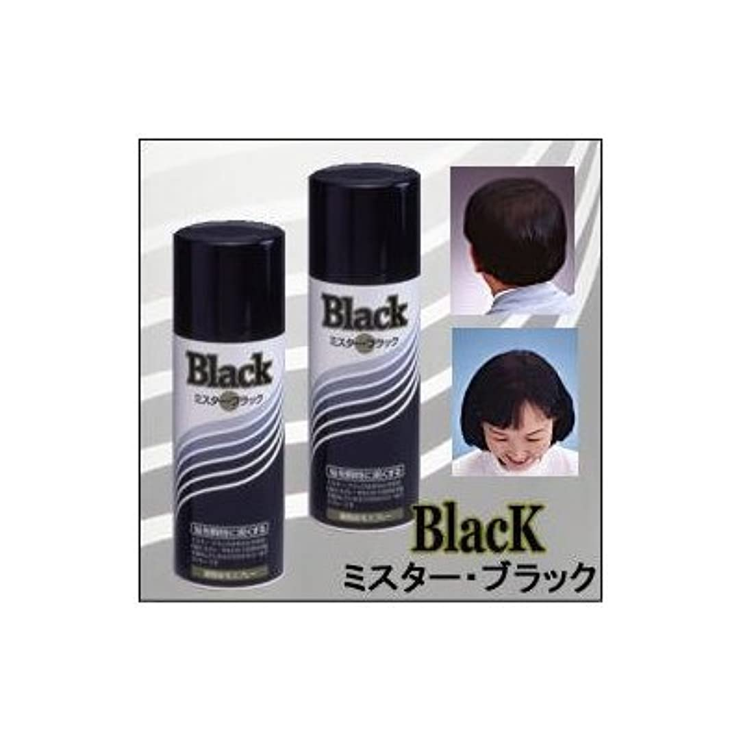 ブラウザコンバーチブル入り口『ミスターブラック ? 男女兼用』 薄毛対策スプレー  瞬時に対応 ?染毛料? 日本製 (2本組)