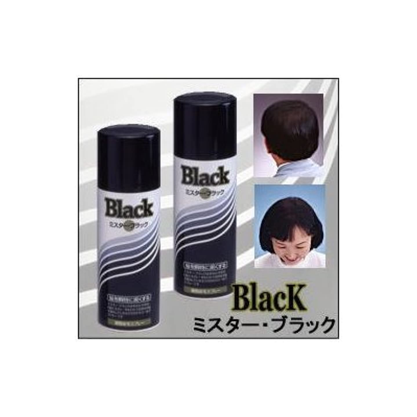 常にウィンク授業料『ミスターブラック ? 男女兼用』 薄毛対策スプレー  瞬時に対応 ?染毛料? 日本製 (2本組)