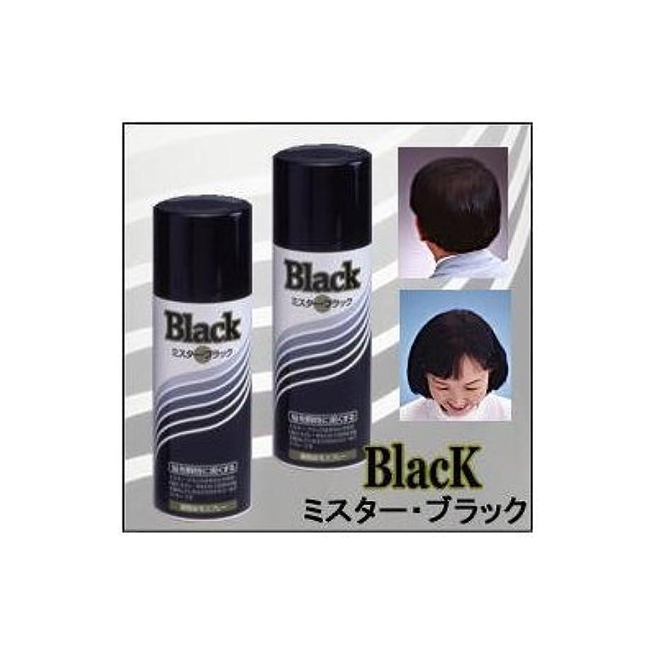 弾力性のあるオーナーラップトップ『ミスターブラック ? 男女兼用』 薄毛対策スプレー  瞬時に対応 ?染毛料? 日本製 (2本組)