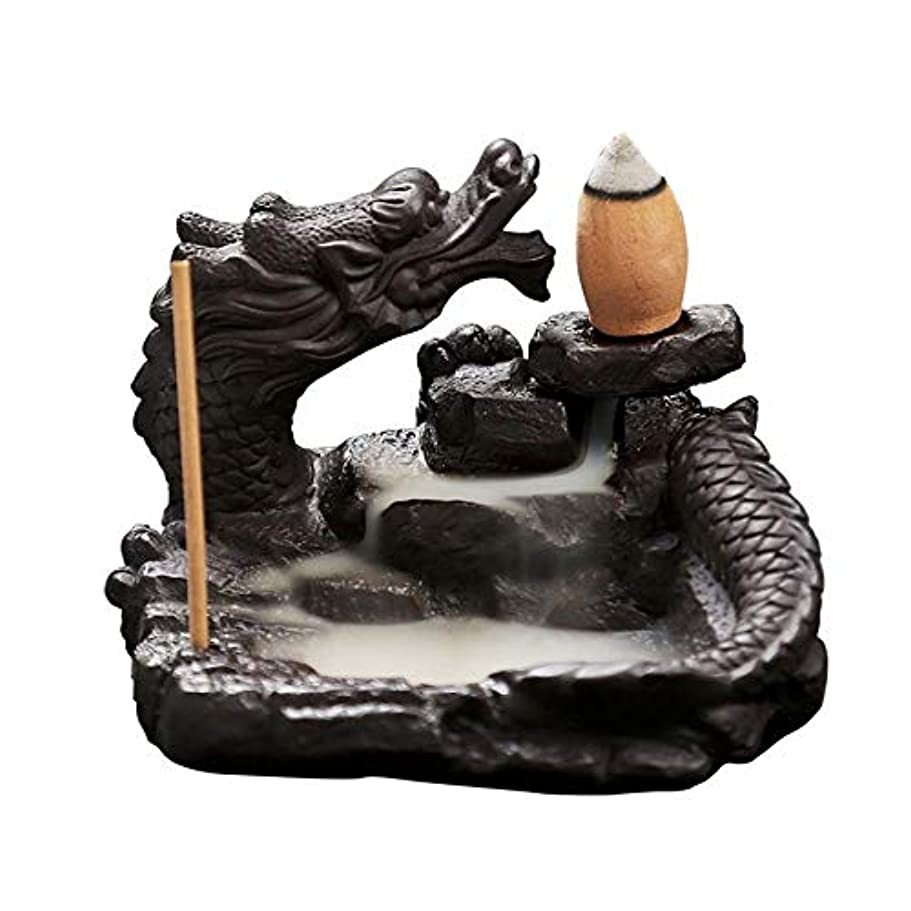 キャンプモニカ言い換えるとAlenx 逆流香立て ホームドラゴン香炉 逆流香10個付き セラミック香炉 香炉