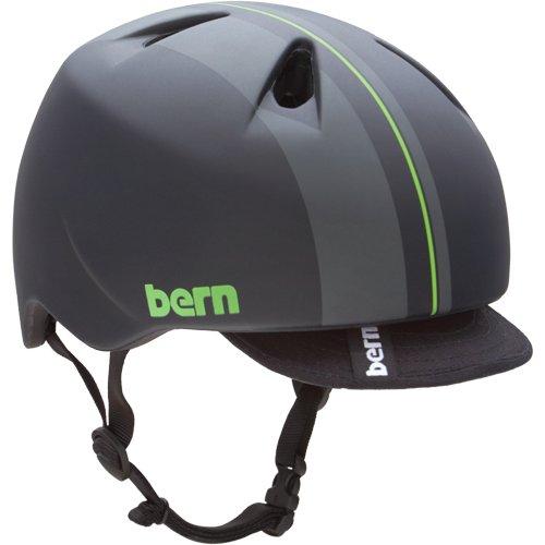 Bern(バーン) NINO(Visor付) Matte Green Racing Stripe S-M:51.5-54.5