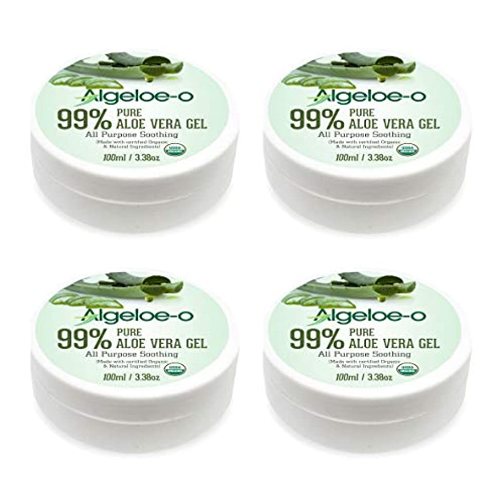 Algeloe-O  Organic Aloe Vera Gel 99% Pure Natural made with USDA Certified Aloe Vera Powder Paraben, sulfate free...