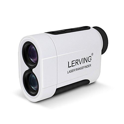 LERVING レーザー距離計 望遠鏡 単眼鏡 デジタルゴルフスコープ ゴルフレンジ 携帯型距離計 屋外 防水対応 ゴルフ用/狩猟用 最大測定距離600M