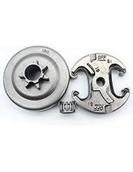 AiCheaX 325-7Tハスクバーナ340 345 350 EPA 346 346XP 351 353 445 445Eのチェーンドラムスプロケットリムキット