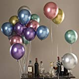 50pcs Chrome Balloons Metallic Balloons for Party Decorations Assorted Colors