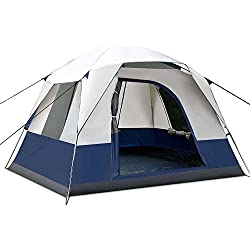 Weisshorn 4 Person Family Camping Tents Cabin Canvas Swag Hiking Beach Backpacking Picnic Tent for Sale Camping Gear Outdoor Equipment Shelter with Carry Bag