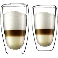 [ボダム] bodum パヴィーナ ダブルウォールグラス 450ml (2個セット) 4560-10 [並行輸入品]