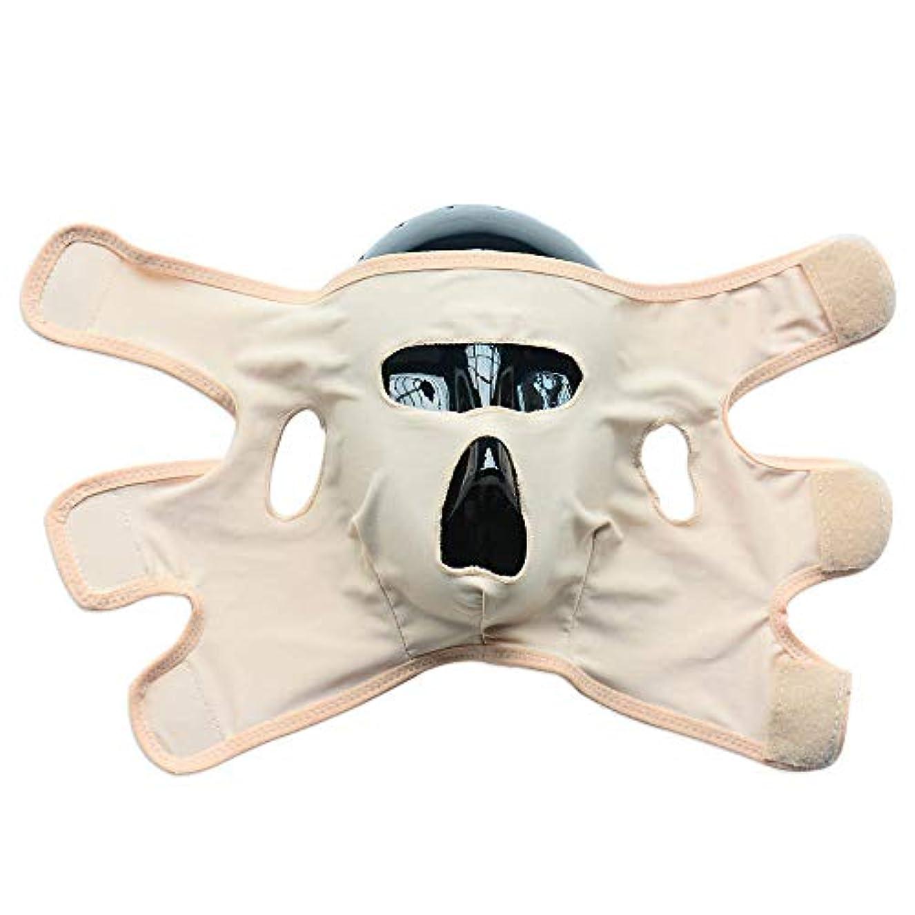 タイル遮るマスタードフェイススリミングマスク、ダブルチンレデューサー、リンクルVフェイスチンチークリフトアップスリミングスリムマスク超薄型ベルトストラップバンドビューティーネックマスクフェイスリフトアップシンシェイプVフェイスラインベルト