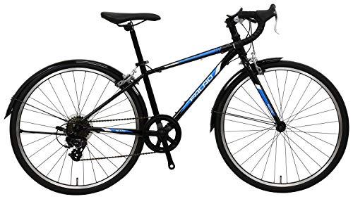 NESTO(ネスト) 【完全組立】24型ファラドjr-K 外装7段 ジュニアロードバイク 340mm ブラック NE-18-009