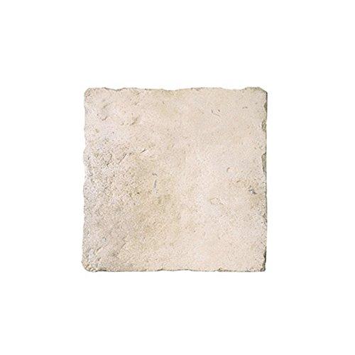 敷石 ステップストーン 飛石 踏み石 屋外床 コンクリート2次製品 イギリス フランス ストーンフレア ジロンデ 平板 W450×D450×H40 ライムストーン色 1枚単位