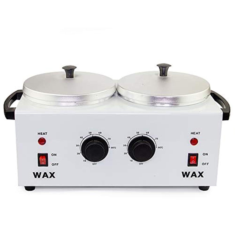 勧める養うより平らなワックスマシン、ダブル炉ワックスポットサーモスタットホットメルトワックスマシン手と足のケア毛除去装置美容ワックスマシン