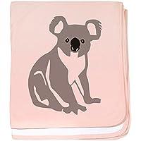 CafePress – コアラKoala Bear – スーパーソフトベビー毛布、新生児おくるみ ピンク 07686893996832E