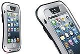 IPhone5/5S/5c 防水 防塵 耐衝撃 パワー ケース 【ホームボタン・お手入れシート付き 】 (銀&黒, iphone 5/5s)